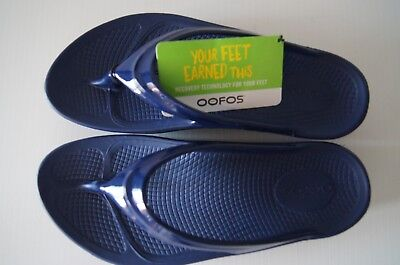 Oofos Ooahh Original Thong - Satin Navy - Bowls Australia Approved