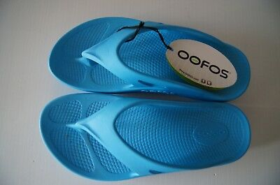 Oofos Original Thong - Bermuda Blue - Bowls Australia Approved