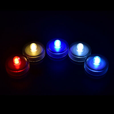 LED Submersible Light Battery Waterproof Underwater Pool Pond Lighting RGB