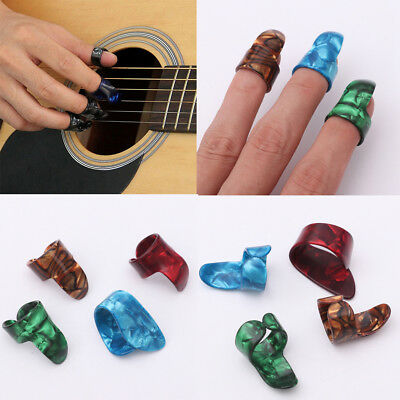 3 finger picks 1 thumb pick plectrums guitar plastic new cad picclick ca. Black Bedroom Furniture Sets. Home Design Ideas