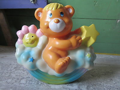 1985 Soma Care Bears Vinyl Still Bank Figure
