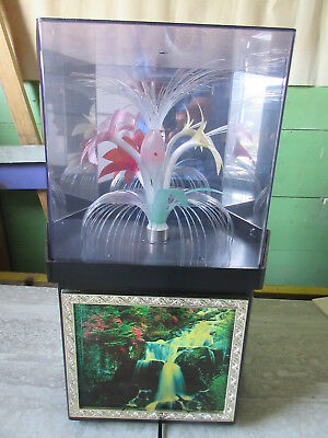 Old Vintage Retro Motion Lamp Waterfall Fibre Optic Flowers