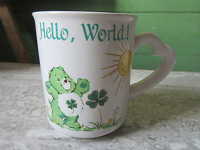 Old 1983 Care Bears Coffee Mug Hello World