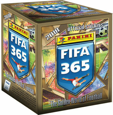 2018 FIFA 365 Offical Sticker Collection Sealed Box 50 Packs of Stickers - New