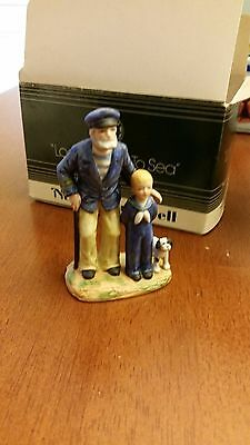 """Norman Rockwell Museum Miniatures """"Looking Out To Sea"""" 1983"""