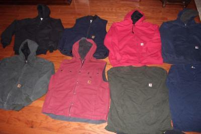 Carhartt Lot Mens Chore Jackets Work Vests T Shirts Hoodies Coats Walls 2Xl Xxl