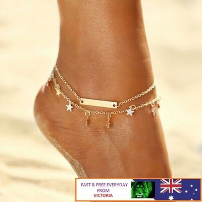 Sexy Chain Foot Beach Jewelry Women Gold Silver Ankle Bracelet Anklet Adjustable