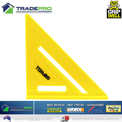 """Quick Sqaure Combination PRO 180mm 7"""" Triangle Right Angle Protractor Saw Guide"""