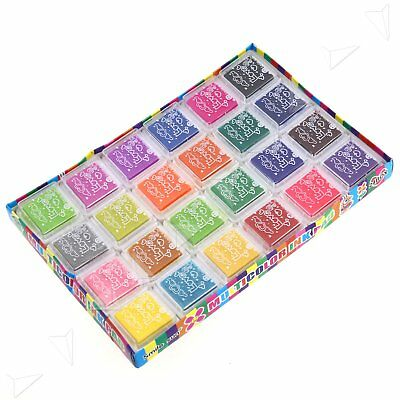 Pigment Craft Ink Pad For Paper Wood Fabric 24 Colours Wedding Scrapbooking Card