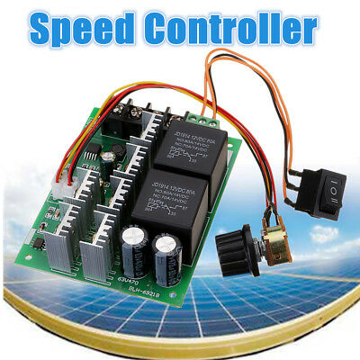 DC 10V~50V 12V 24V 48V 60A PWM Motor Speed Controller CW CCW Reversible Switch