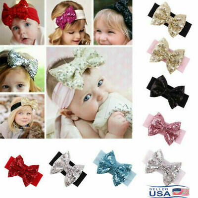 Cute Girl Newborn Baby Toddler Infant 12pcs Flower Headband Headwear Accessories