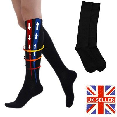 1 Pairs More Mile Compression Sports Running Knee High Long Socks Men Ladies NEW