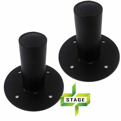 2X Speaker Stand Top Hat Steel Heavy Duty Speaker Stand Adaptor 35mm Pair TH009