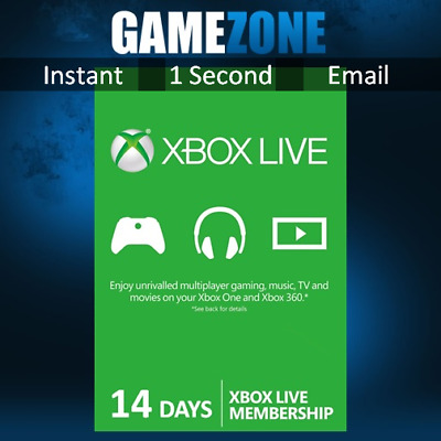 Xbox LIVE 14 Days Trial Gold Membership For Microsoft Xbox One / Xbox 360 2 Week