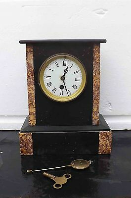 antique mantle clock slate & marble