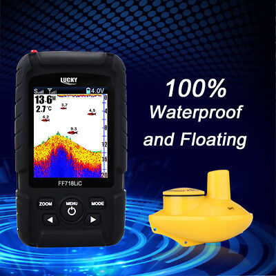 Lucky Fish Finder Wireless Color Screen Sonar Smart LCD Fishfinders Waterproof