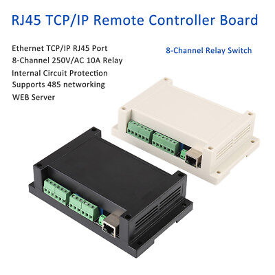 Ethernet TCP/IP RJ45 Port Remote Controller 8 Channels Relay Integrated 250V/AC