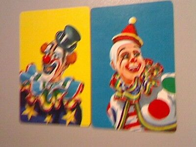 2 Single Swap/Playing Cards - Pair Clowns