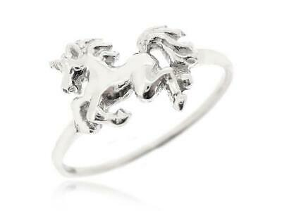 Sovats Unicorn Ring 925 Sterling Silver Horse Ring Fantasy Fairy Tail Size 5-12