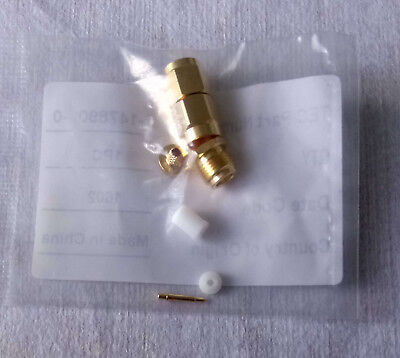 Straight 50 Ohm RF coaxial SMA Connector, gold-plated, solder termination
