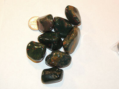 Bloodstone tumbled stones 1/4 pound from India (12741)