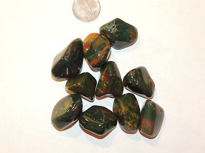 Bloodstone tumbled stones 1/4 pound from India (12749)