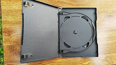 10--NEW--2 Disc Capacity W/Hinge-- Standard 14mm DVD Cases -  Free Shipping