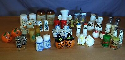 Over 20 Pairs of Miscellaneous Vintage Salt and Pepper Shakers