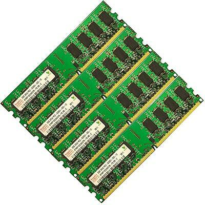 Memory Ram 4 Desktop PC DDR2 667 PC2 5300U 240 DIMM Non ECC Unbuffered 2x GB Lot