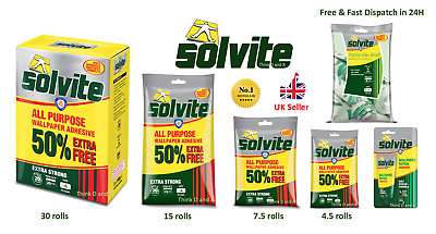 Solvite All Purpose Extra Strong Wallpaper Adhesive Quick Easy Mixing Glue Paste