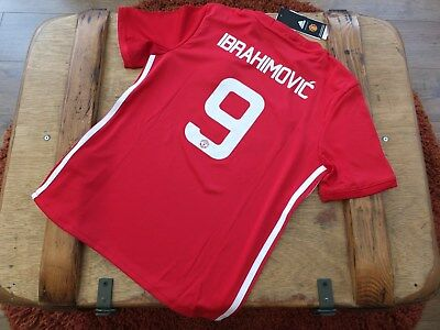 New Genuine Manchester United 2016/17 IBRAHIMOVIC 9 Home Cup Shirt Junior XL