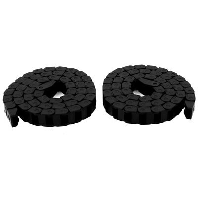"""2pcs R15 15mmx10mm Machine Tool Nylon Cable Drag Chain Wire Carrier 41"""" Length"""