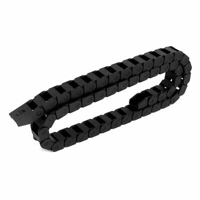 10mmx15mm 100cm Black Plastic Drag Cable Chain Wire Carrier for CNC Router Mill