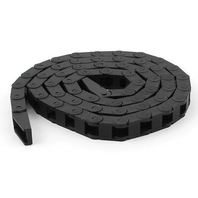 1M Length 7mm x 7mm Plastic Cable Drag Chain Wire Cord Carrier Black