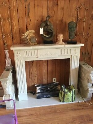 Faux Marble carved mantle Fireplace Base Orig $2k Great Buy Local Pick Up Fla