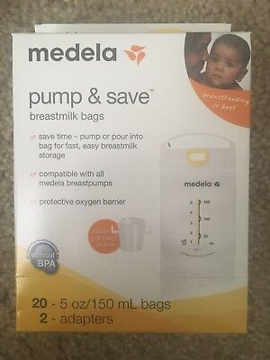 Medela Pump and Save Breastmilk Bags Lot 20 Count (12 boxes)