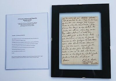 💥 1 of 1 1773 MARQUIS DE SADE Hand Written Autographed Letter-WAX SEAL sadism