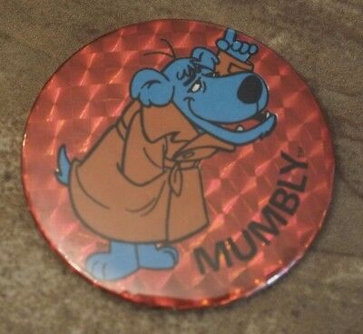 "1979  Mumbly Hanna-Barbera ""Prism Glo"" Button Vintage VERY RARE!"