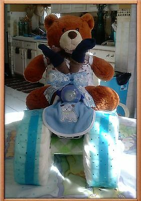 4 wheeler Diaper Cake Unisex- Made to order