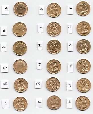 ONE YOUNG HEAD VICTORIA GOLD FULL SOVEREIGN BULLION COIN - Choose your year