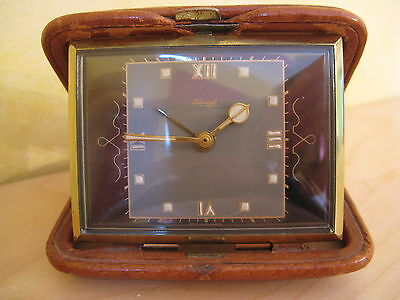 SELTENER ART DÉCO DESIGN REISEWECKER VDO KIENZLE TRAVEL CLOCK working