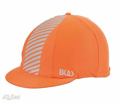 Bridleway Visibility Hat Cover - Bright Orange Reflective
