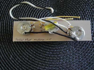 "MADE FOR STRAT PARTIAL WIRING HARNESS 250k CTS MALLORY .047 ""SERIES 150"" CAP"