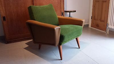 Mid century, Vintage Club Arm Chair c1950/1960 Original Fabric