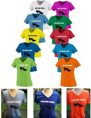 9a3da4efa Soccer Mom T-Shirt V neck Jersey Ladies fit fast dry light weight polyester