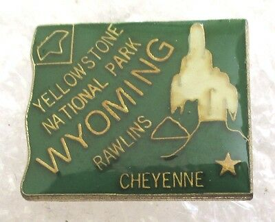 State of Wyoming Map Travel Souvenir Collector Pin