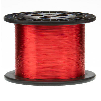 """32 AWG Gauge Heavy Copper Magnet Wire 5.0 lbs 24425' Length 0.0094"""" 155C Red"""
