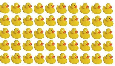 50 Cute Mini Squeaky Yellow Rubber Duckies Great For Baby Showers and Bath Time!