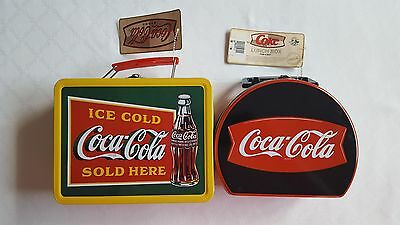 Lot of (2) Coca-Cola Tin Lunch Boxes- NEW With Tags