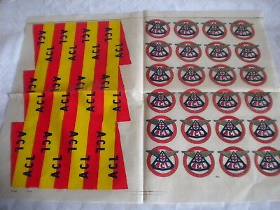 Automobile club lorrain window decal sheet transfer flag windscreen 1950s french